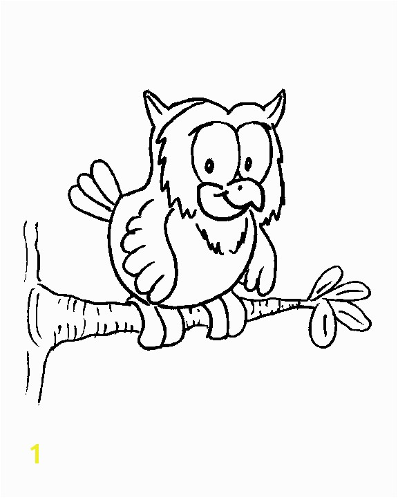 owl on a tree coloring pages 7
