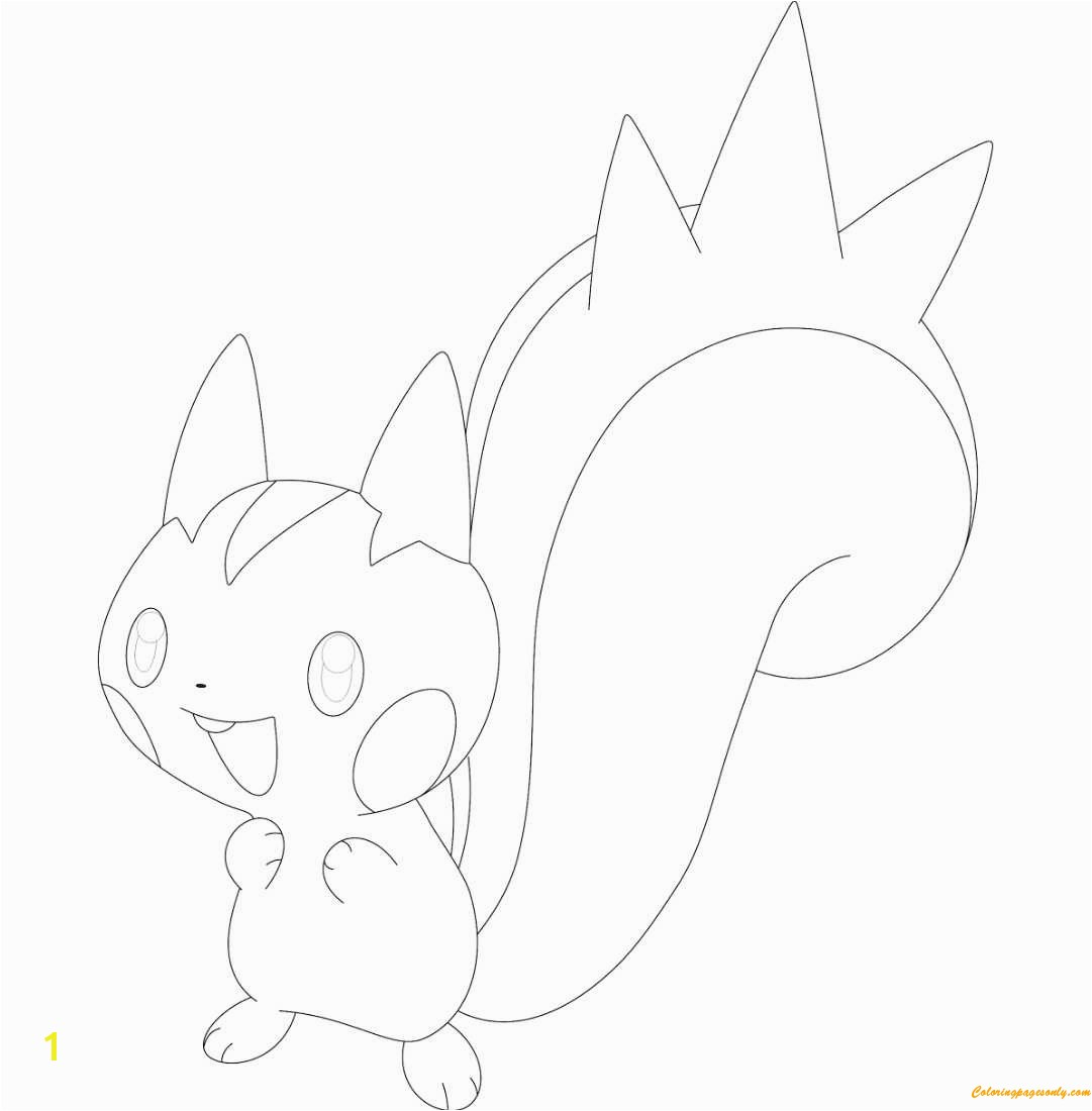 Improved Pachirisu Coloring Pages Pokemon Page Free line