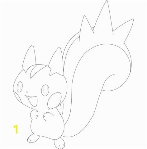 Pachirisu coloring page