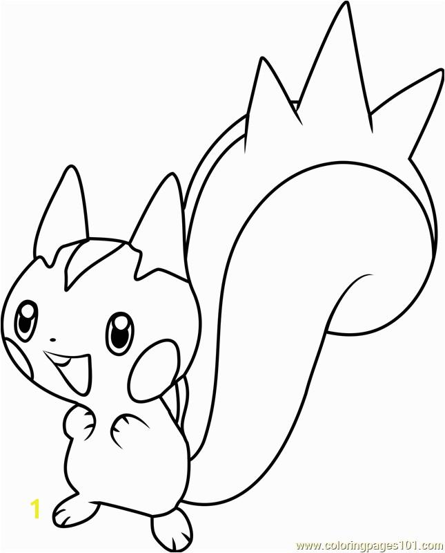 Pachirisu Coloring Pages Pachirisu Pokemon Coloring Page Free Pokémon Coloring Pages
