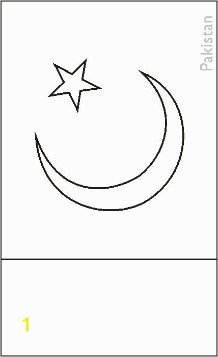 Pakistan Flag Coloring Page Pakistani Flag Coloring Page Middle East for Kids