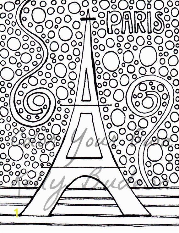 Adult Coloring Page Eiffel Tower Coloring Page Eiffel Tower Coloring Pages Free Paris Eiffel Tower Coloring Art
