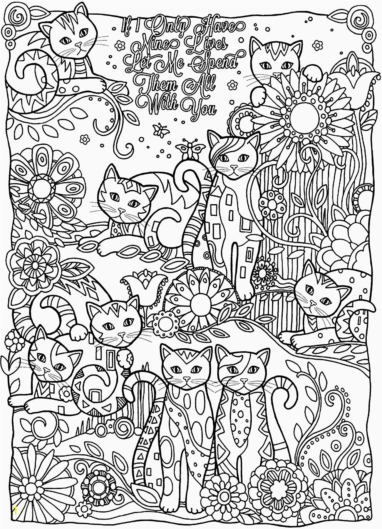 Printable Coloring Sheets for Adults Beautiful Cute Printable