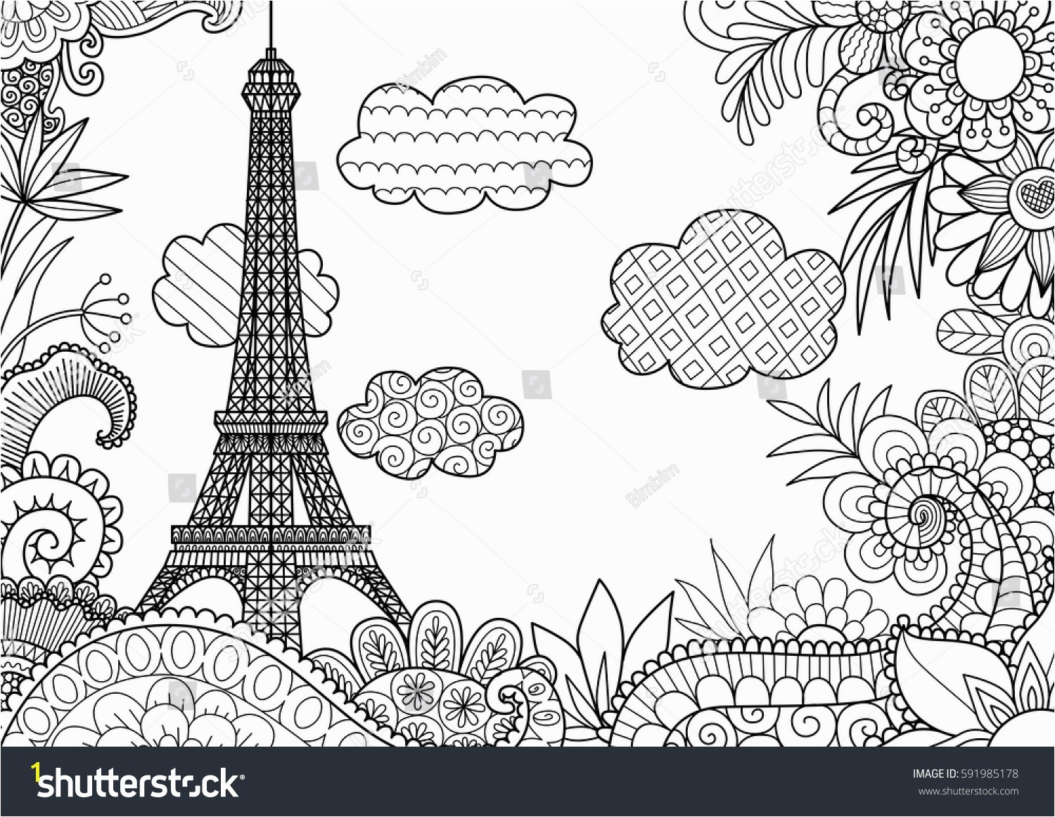 Paris Coloring Pages Bookmontenegro Me And