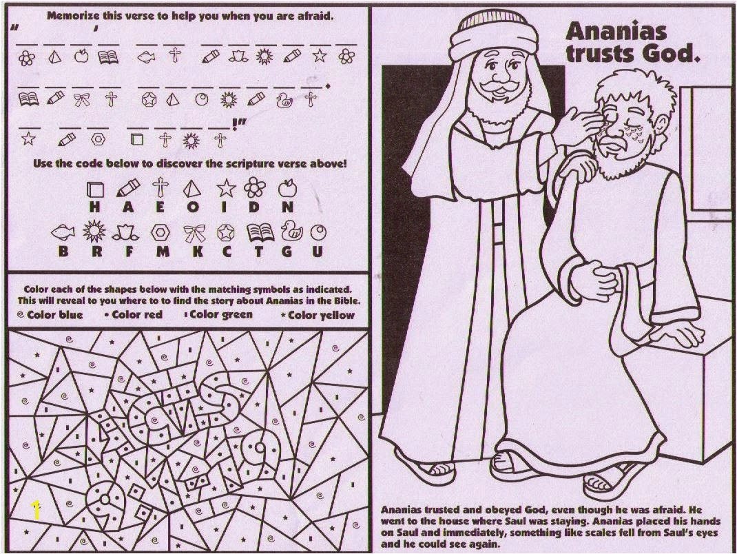 Paul and Ananias Coloring Page Fresh Petersham Bible Book & Tract Depot October 2014 Stock