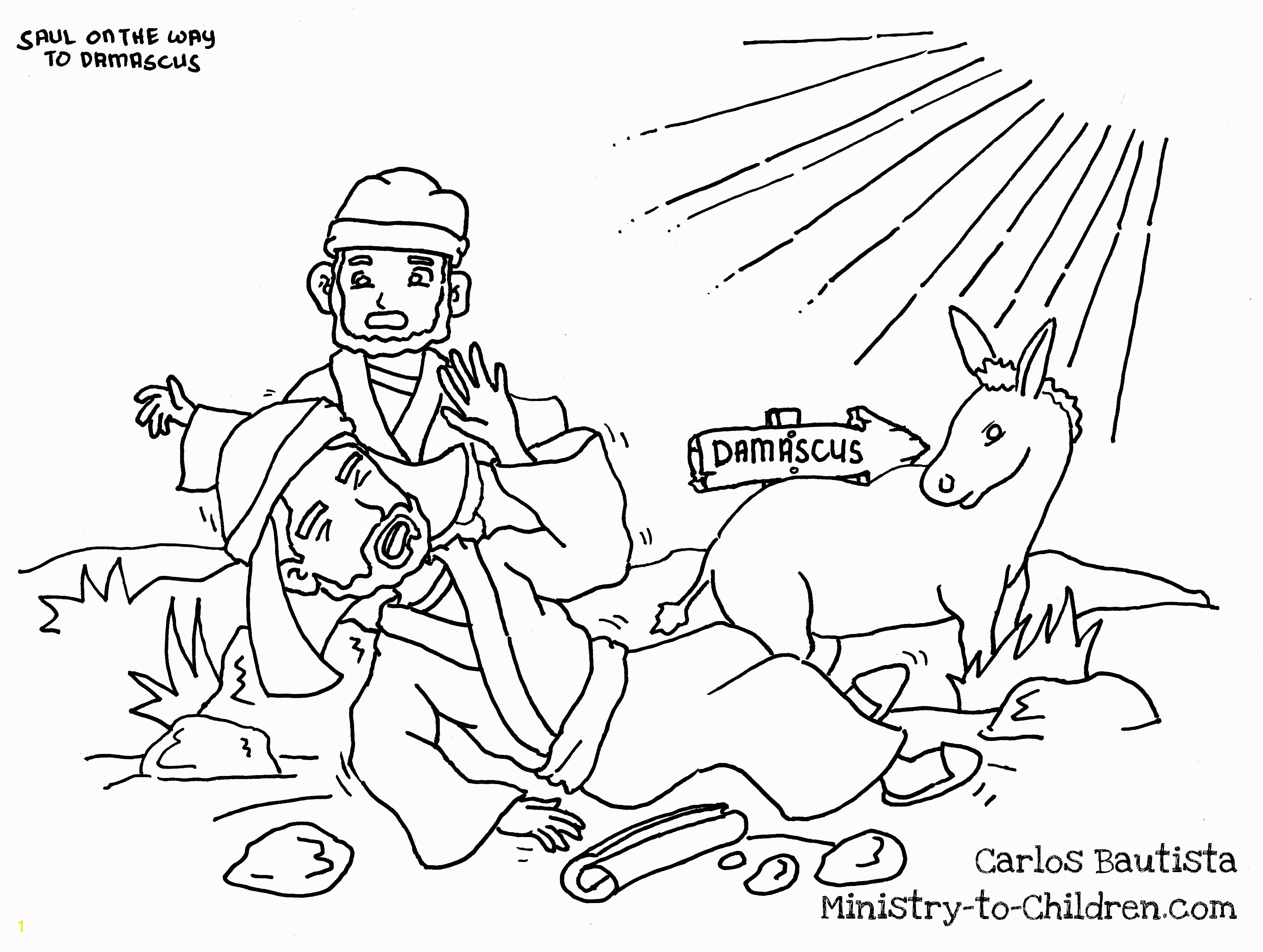 Paul s Conversion coloring page