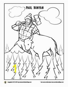 Paul Bunyan and his giant blue ox Babe