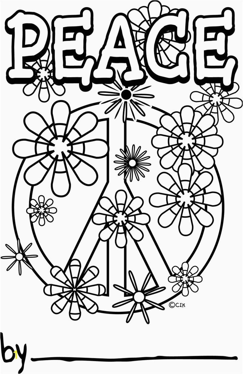 Peace Sign Coloring Pages Peace Coloring Sheet Heathermarxgallery