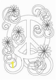 flower power hippy Colouring Pages Flower Peace Symbol Buzzle Printable Templates