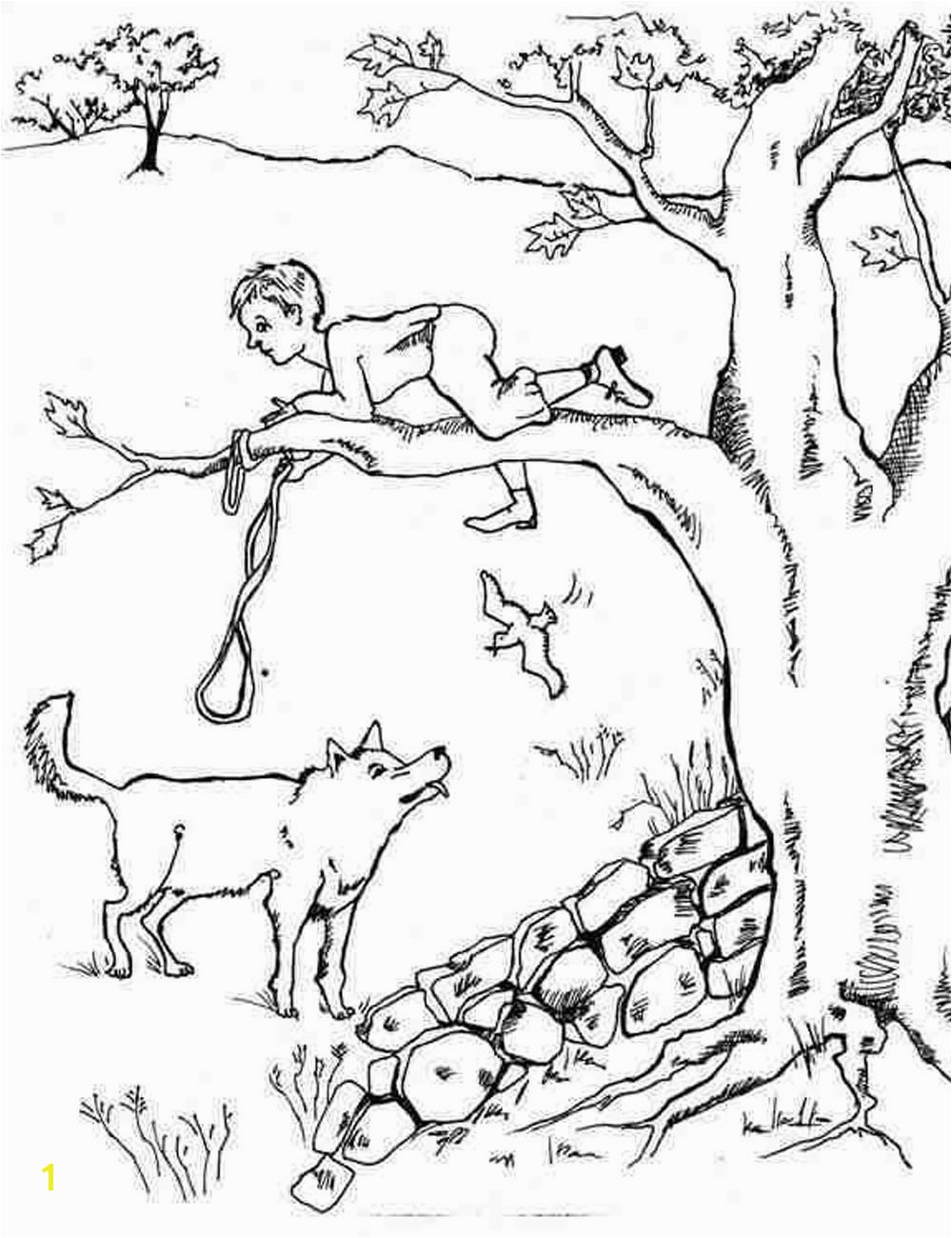 Peter and the Wolf Coloring Page Peter and the Wolf Coloring Pages