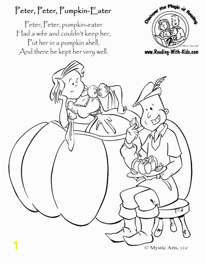 Hero Coloring Page · Peter Peter Pumpkin Eater coloring page
