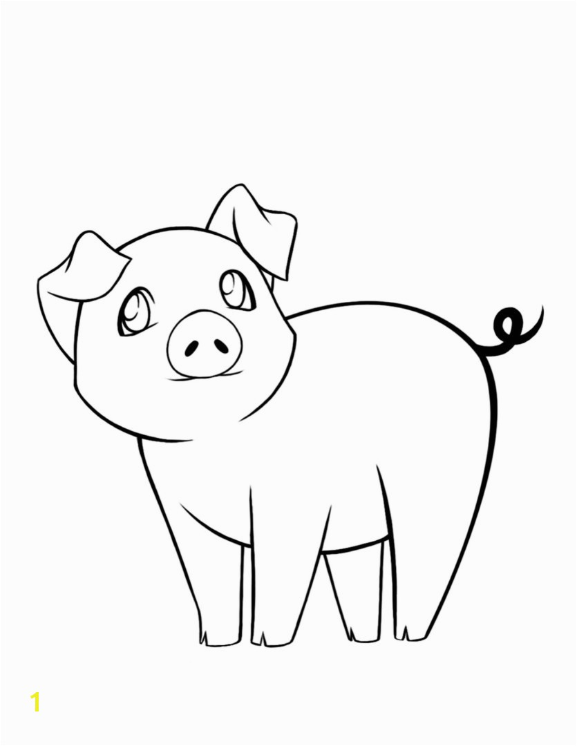 New Cartoon Pig Coloring Pages Gallery Printable Coloring Sheet Pig Coloring Page 7