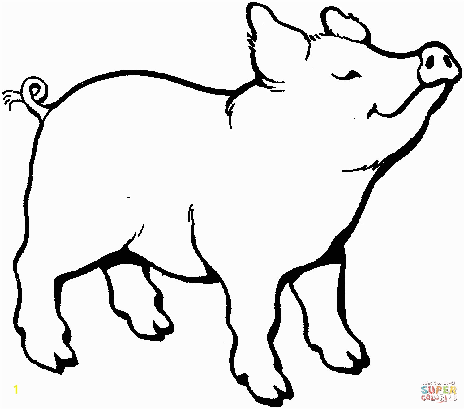 the Pig Smells Something coloring pages to view printable