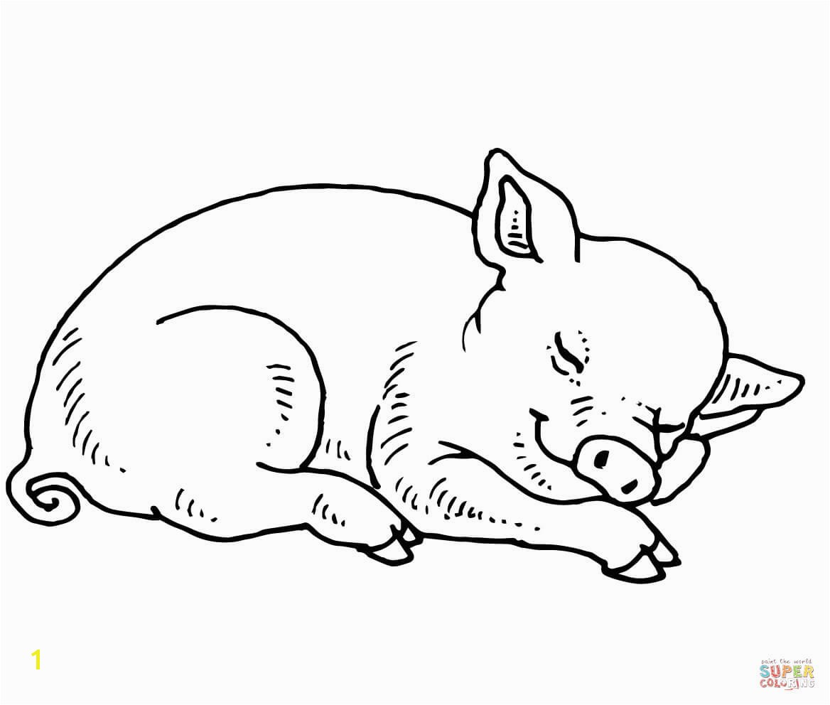 the Sleeping Baby Pig coloring pages to view printable