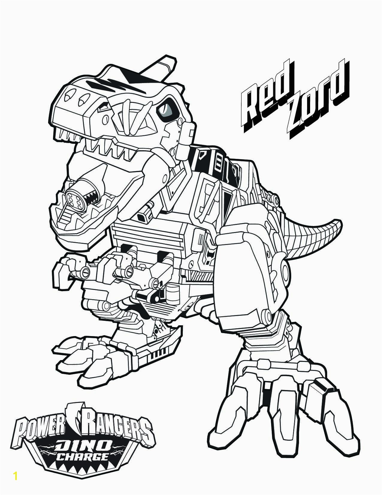 Red Zord Download them all type coloring pages