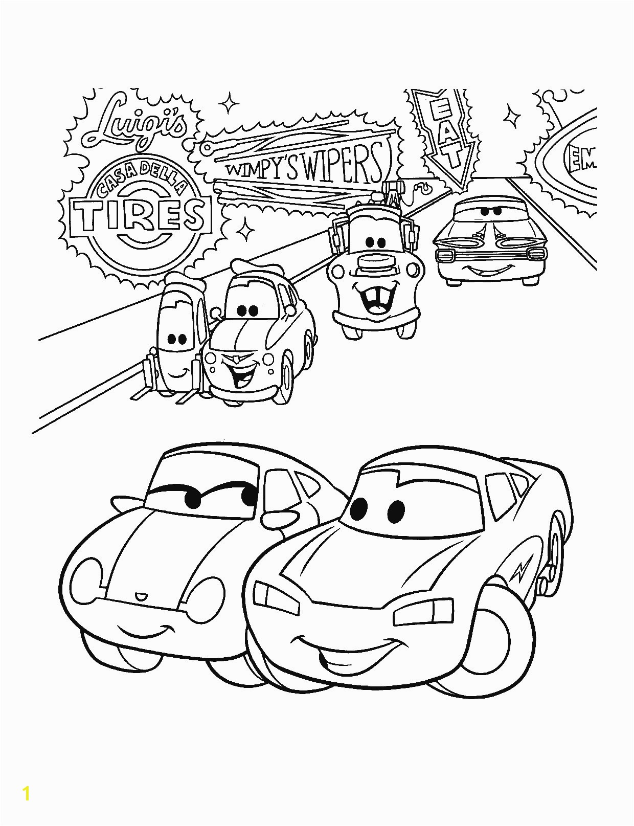 African American Coloring Pages Beautiful Unsurpassed Piston Cup Page Cars Got 6777 Stock