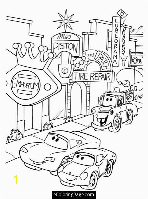 Disney Coloring Pages For Kids Beautiful Piston Cup Page Stock