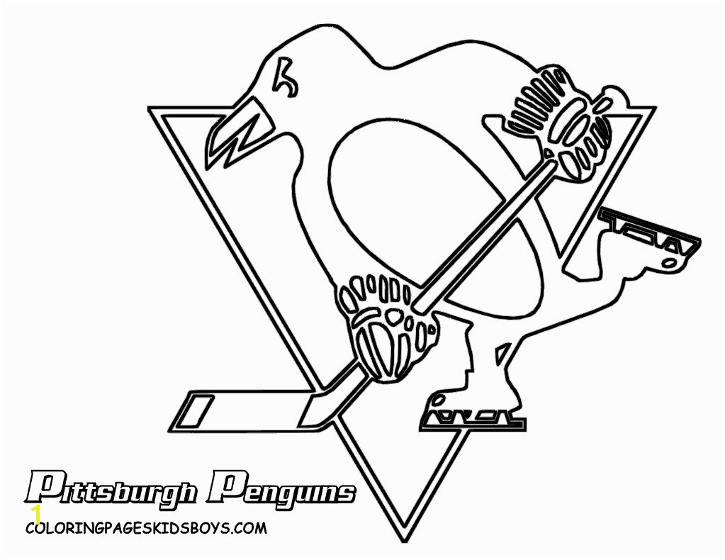 Pittsburgh Penguins Logo Coloring Page Lovely Nhl Worksheets for Kids Penguins Logo Colouring Pages Pittsburgh