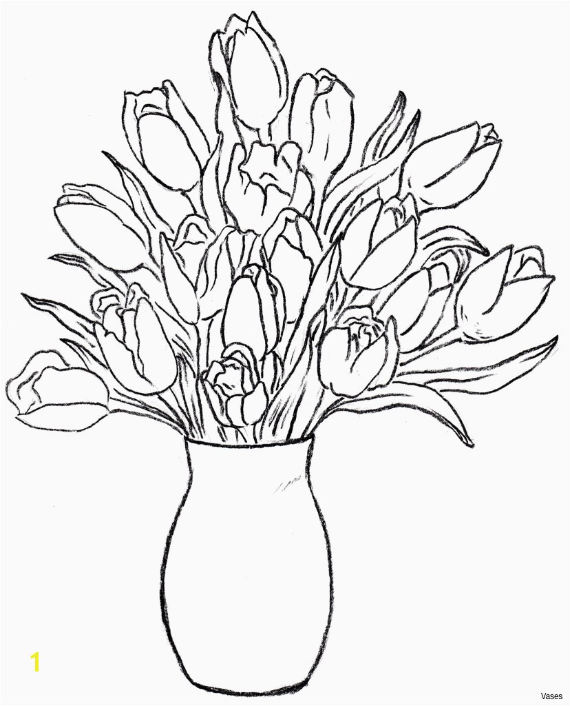 Plant Coloring Pages for Preschoolers Awesome Vases Flowers In Vase Coloring Pages A Flower top I