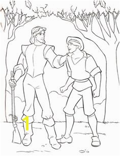Walt Disney Coloring Pages Captain John Smith & Thomas Hintergrund in The Walt Disney