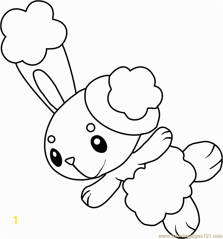 buneary pokemon coloring page
