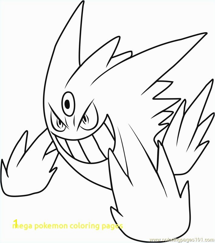 Mega Pokemon Coloring Pages With Mega Gengar Pokemon Coloring Page