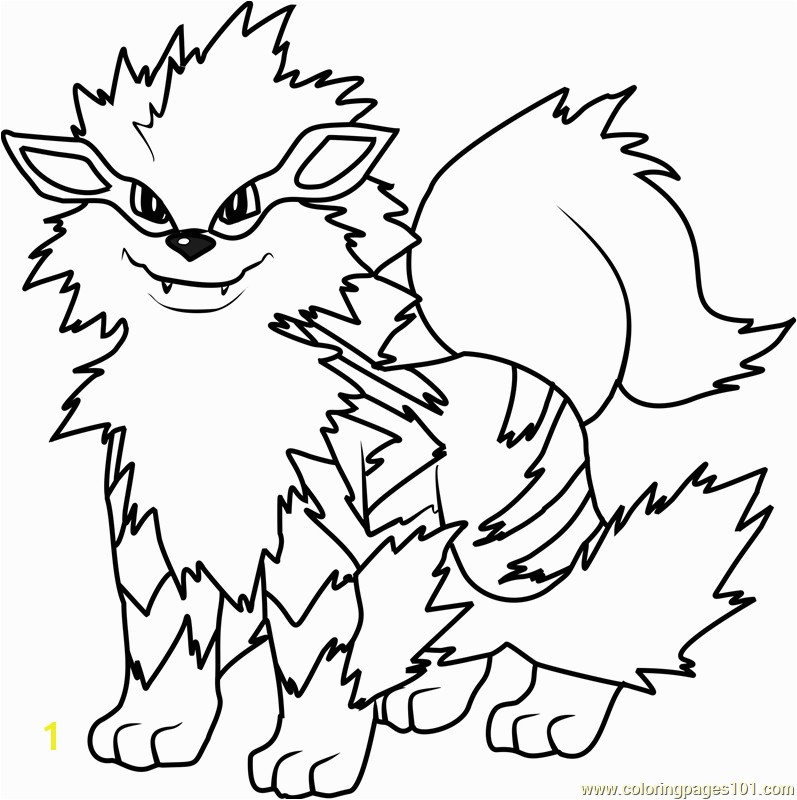 Pokemon Coloring Pages Online Arcanine Pokemon Coloring Page Free Pokémon Coloring Pages