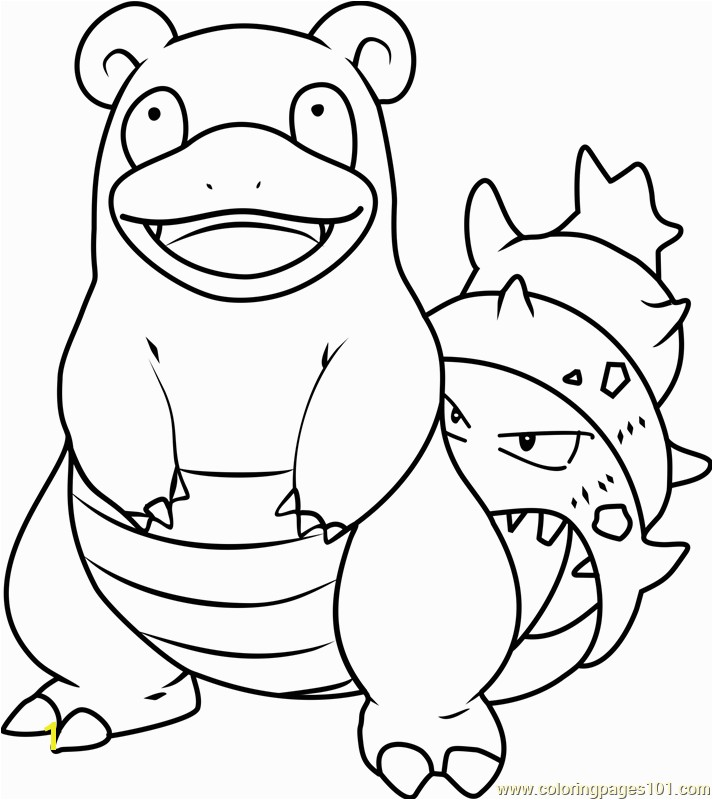 Slowbro Pokemon Coloring Page