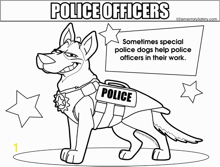 Police Dogs Coloring Police ficers Colouring Pages Police