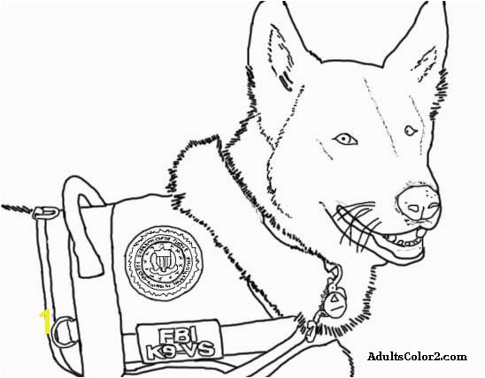 Police Dog Coloring Page At Getcolorings Free Printable