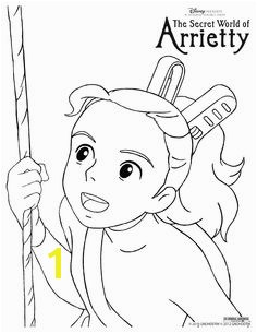 Arrietty colouring page