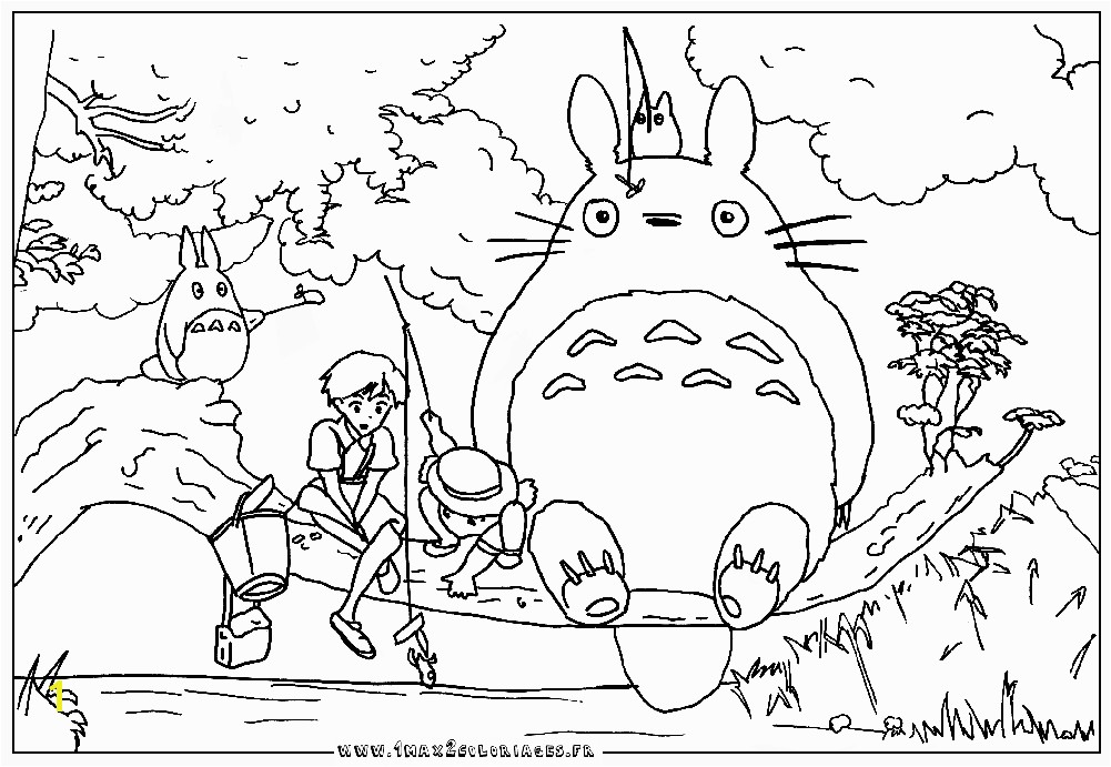 Totoro coloring pages to and print for free