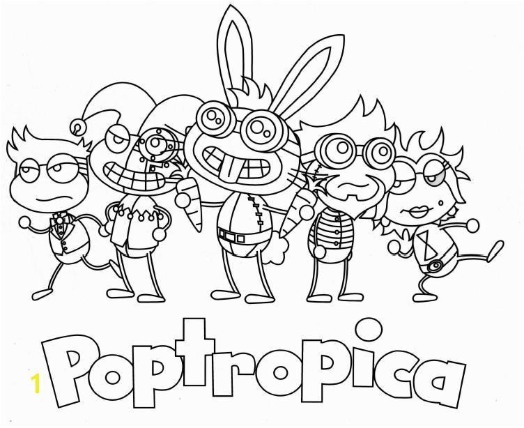 Poptropica Coloring Page