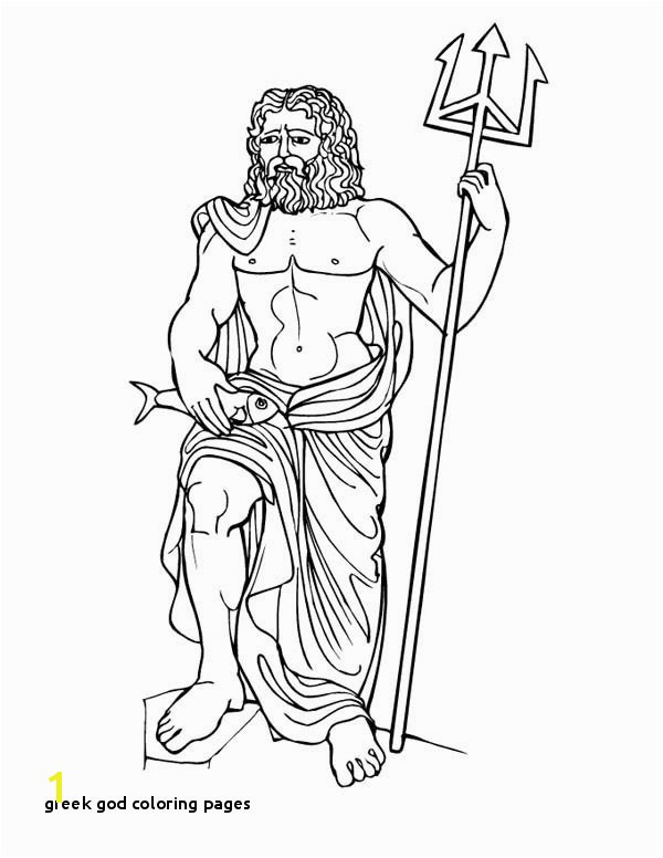 Inspirational Poseidon Greek God Coloring Pages printable coloring page Archives Page 45 of 155 Printable