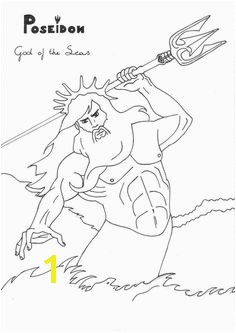 Poseidon by LilaTelrunya coloring page Greek God mythology Unit study