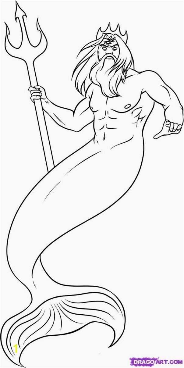 Poseidon Greek God Coloring Pages Fresh Poseidon Coloring Pages – Color Bros