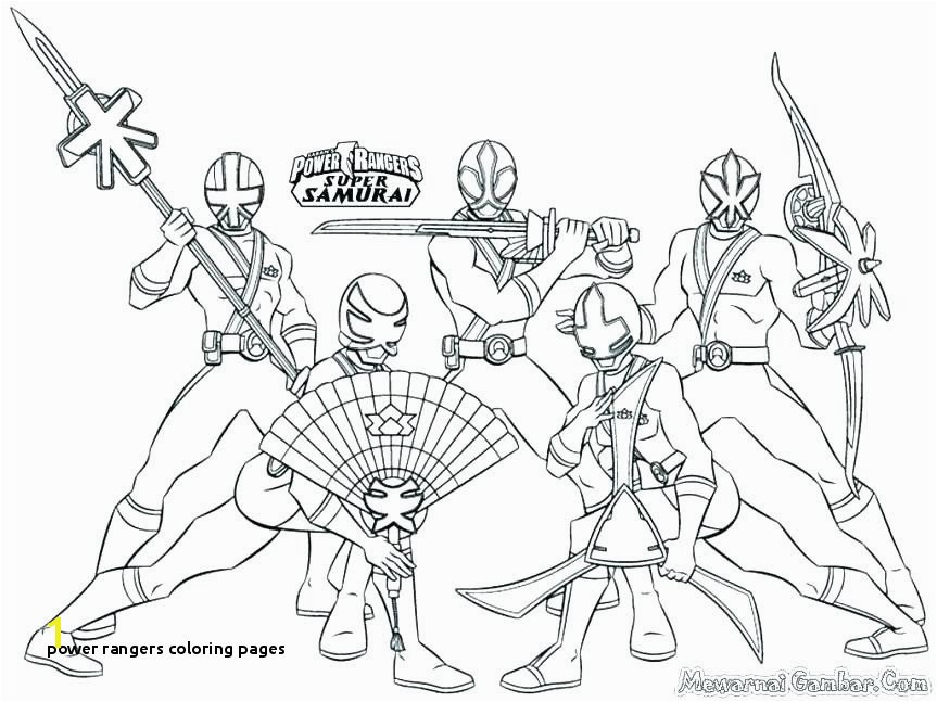 25 Power Rangers Coloring Pages
