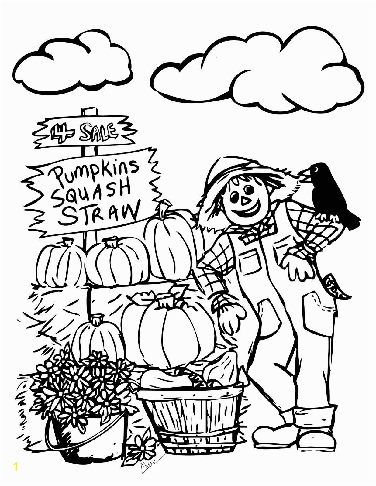 Simple Fall Color Sheet Engaging Coloring Pages Printable 26 Kids New 0d Page For