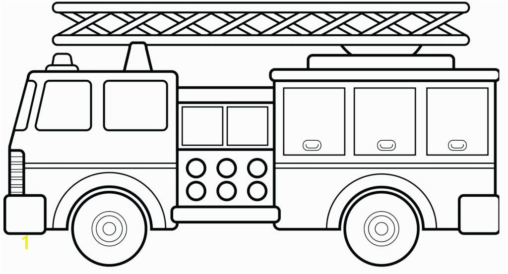 Preschool Fire Truck Coloring Page Coloring Fire Truck Coloring Pages Firetruck Page Free Media Cute