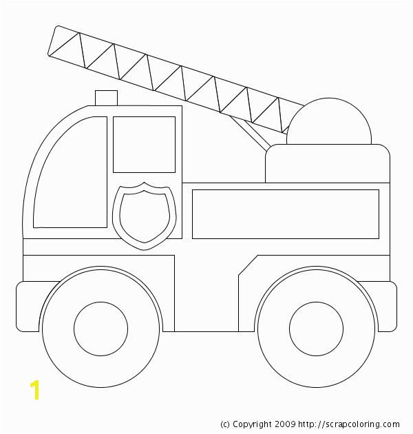 Image detail for preschool fire truck coloring pages preschool fire truck coloring