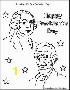 Free Presidents Day coloring pages printable worksheets craft