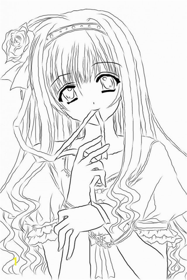 Anime girl coloring nice stunning coloring pages cute images 40 anime girl coloring pages printable anime coloring pages for kids