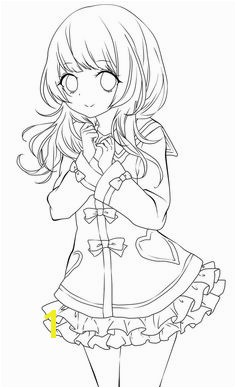 Pretty Anime Girl Coloring Pages Anime Girl Coloring Nice Stunning Coloring Pages Cute Images 40