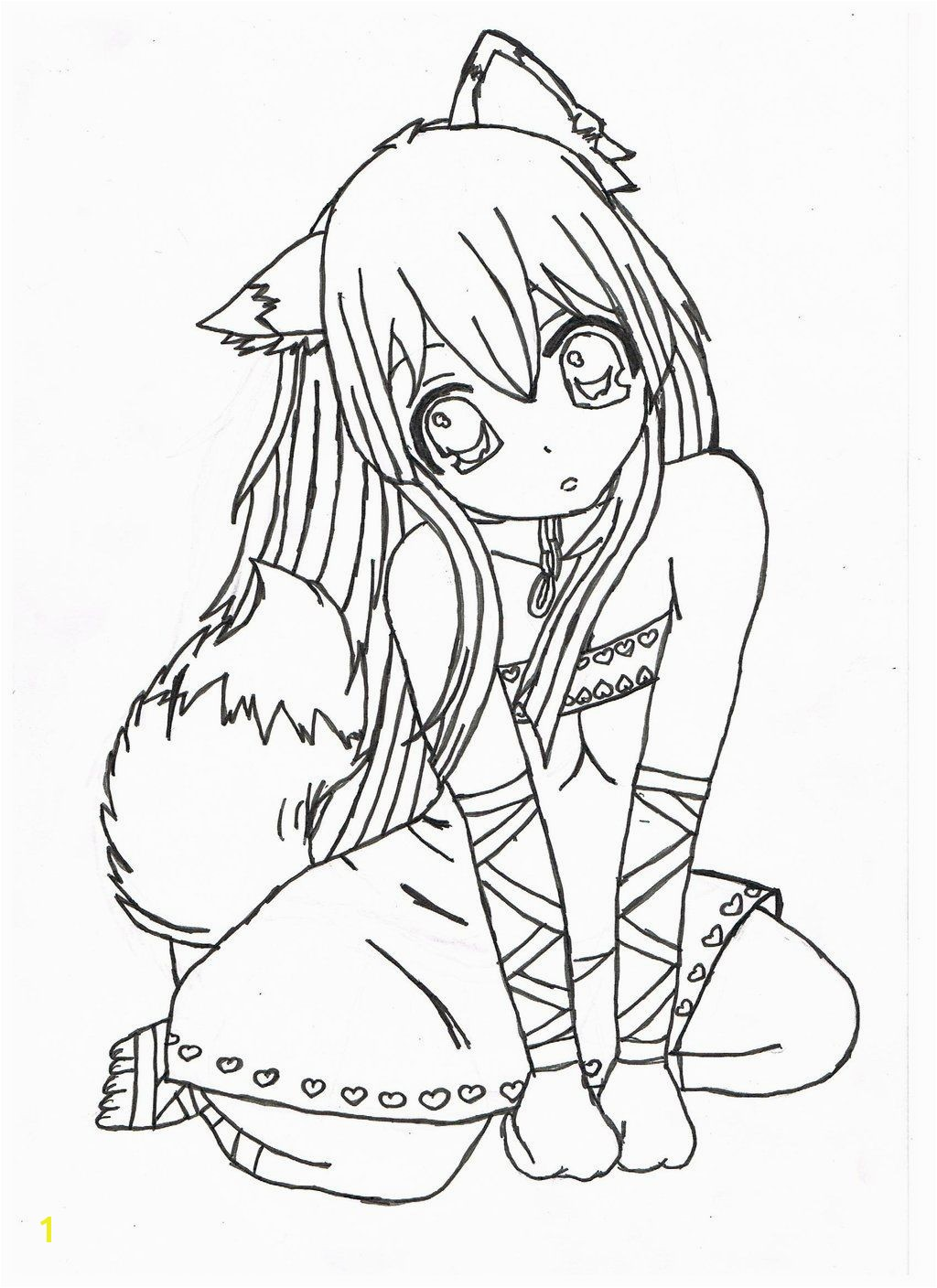nice brilliant Anime Girl Coloring Pages Free Coloring Pages Free