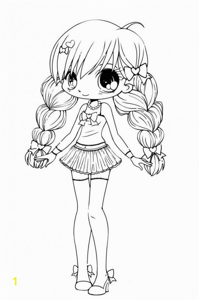 Pretty Girls Coloring Pages 16 Beautiful Anime Girl Gallery
