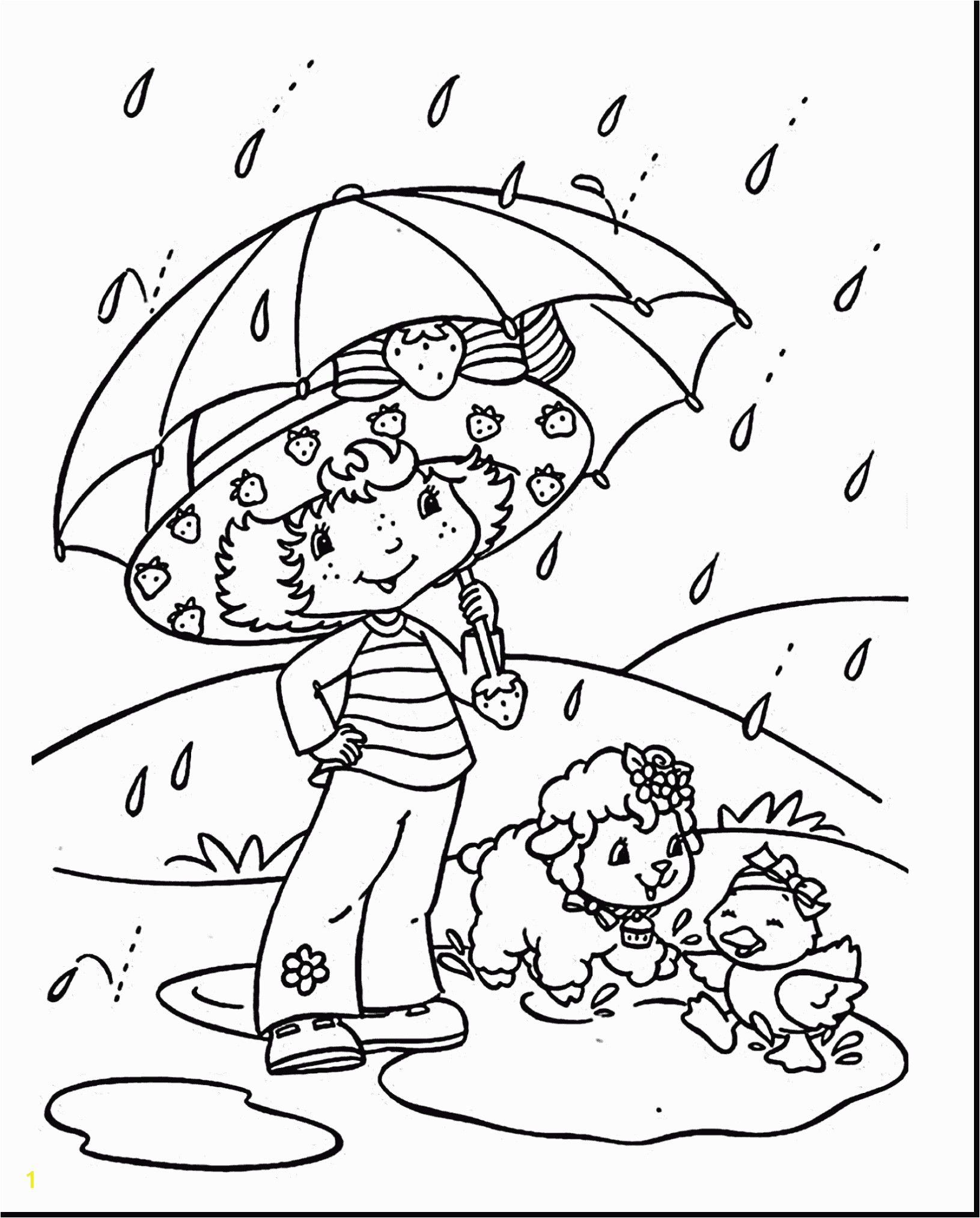 Exciting Rainy Day Colouring Pages Coloring Rain Page With 35