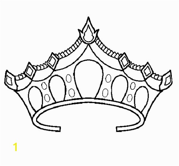 600x557 Princess Crown Coloring Pages