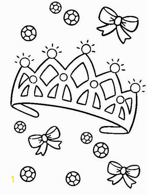 600x790 Diamond on Princess Crown Coloring Page