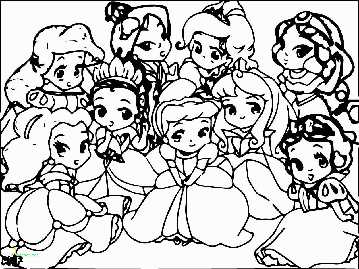 Coloring Disney Princesses Tiana and Rapunzel Fresh Baby Princesses Coloring Pages Free Coloring Library