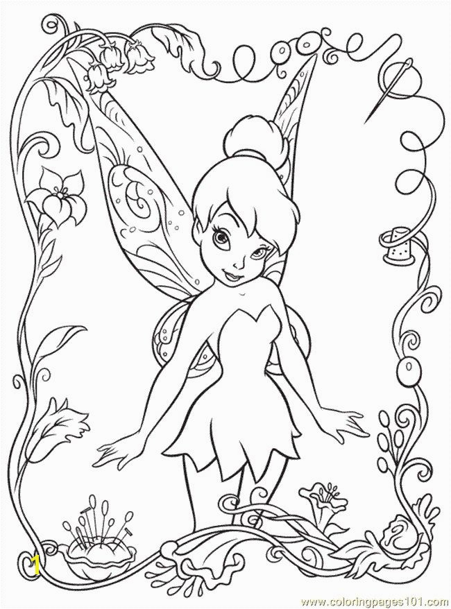 free disney printables Coloring Pages Disney Fairy6 Cartoons Disney Fairies free Disney printables Pinterest
